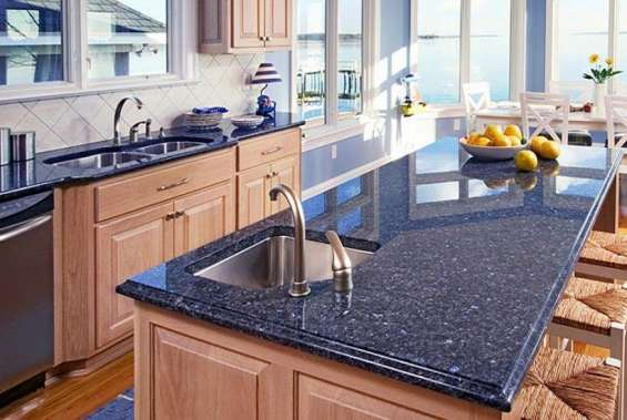 Pictures of Buy now lavender blue granite kitchen worktops in london 2