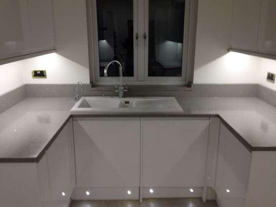 Pictures of Grey starlight quartz sale | kitchen worktops at low price london 3