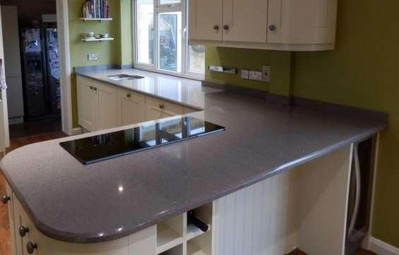 Pictures of Grey starlight quartz sale | kitchen worktops at low price london 1