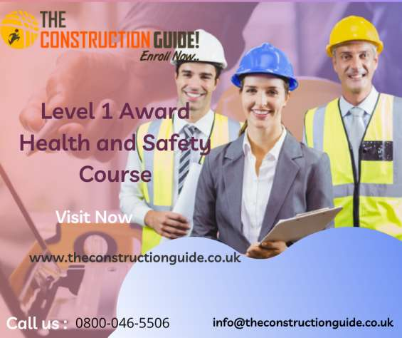 Level 1 award in health and safety course